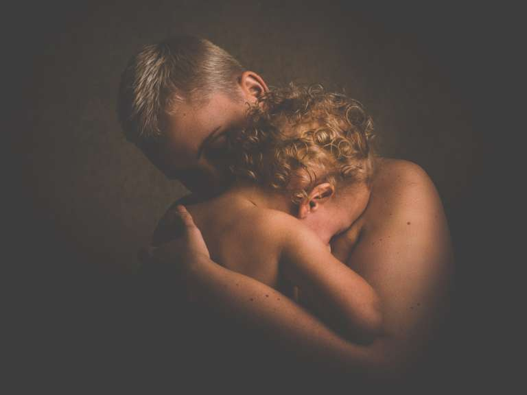 Skin to skin contact with baby
